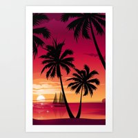Sunset Three Art Print