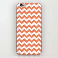 Chevron (Coral/White) iPhone & iPod Skin