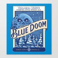 Blue Doom Canvas Print
