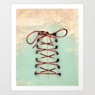 Art Print featuring Lacing Up The Sky by Vin Zzep