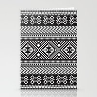 Monochrome Aztec Inspire… Stationery Cards
