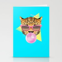 Bubble Gum Leo Stationery Cards