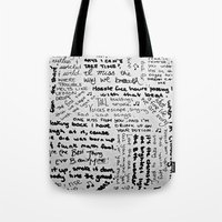 Song Lyrics Tote Bag