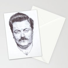 Ron Fucking Swanson Stationery Cards