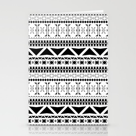 Black & White Pattern Stationery Card
