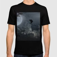 There's A Moon Out Tonig… Mens Fitted Tee Black SMALL