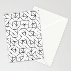 BW TRIANGLE PATTERN Stationery Cards