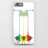 iPhone Cases featuring Knitting sheep by Popmarleo