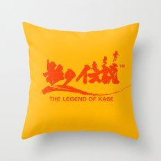 The Legend of Kage Throw Pillow