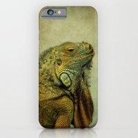 iPhone & iPod Case featuring Green Iguana by Liz Molnar