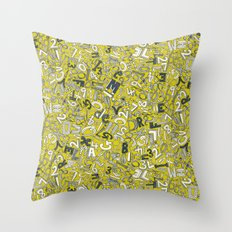 A1B2C3 chartreuse Throw Pillow