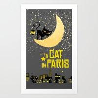 A Cat In Paris Art Print