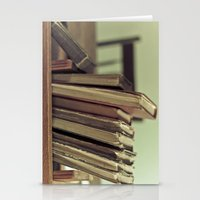 Retro Books Stationery Cards