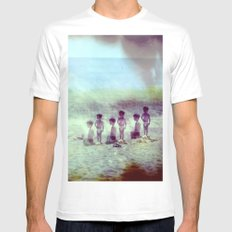 Childhood White Mens Fitted Tee SMALL