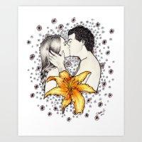 Love is like a Flower... Art Print