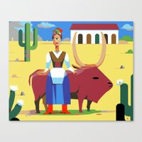 Que Pasa Senorita, I Am … Canvas Print