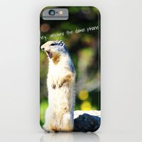 iPhone & iPod Case featuring Angry Squirrel by Jennifer Rogers