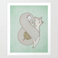 Catpersand Art Print