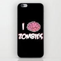 I Brain (Love) Zombies iPhone & iPod Skin