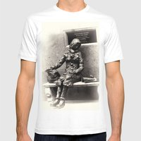 All the lonely people Mens Fitted Tee White SMALL