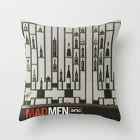MADMEN Throw Pillow