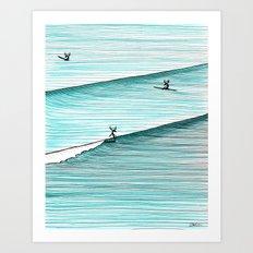 Hang Moose Colour Art Print
