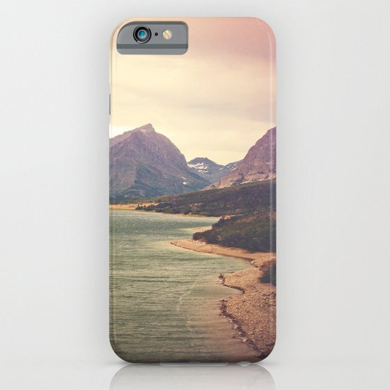 Retro Mountain Lake iPhone & iPod Case