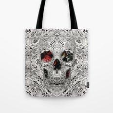 Lace Skull Light Tote Bag