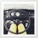 From Behind The Wheel - I Art Print