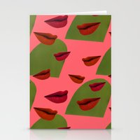 Retro Lips (2) Stationery Cards