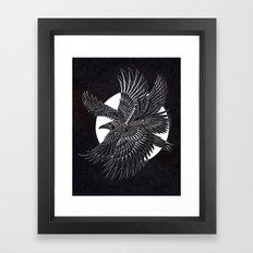 Moonlight Raven Framed Art Print