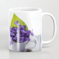 Spring Time Violet Tea - Flowers Mug