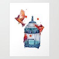 Bird Cage Art Print
