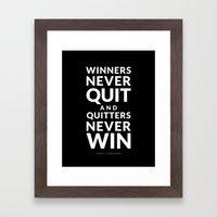Winners Framed Art Print