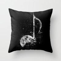 Melodie De La Lune Throw Pillow