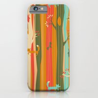 iPhone & iPod Case featuring Woodland Stripe Orange by AllisonBeilke