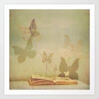 paper wings Art Print