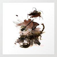 InkyBugs II Art Print