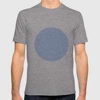 blue circle Mens Fitted Tee Athletic Grey SMALL