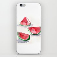 Watermelon Sketch iPhone & iPod Skin