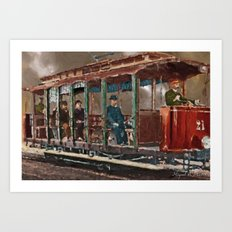 Old tramways VIII Art Print