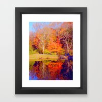 Fall reflections Framed Art Print