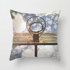 Hoosier Basketball Throw Pillow