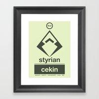 Styrian Cekin Single Hop Framed Art Print