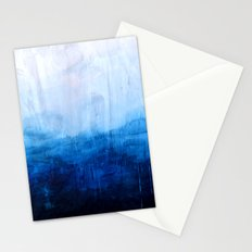 All good things are wild and free - Ocean Ombre Painting Stationery Cards
