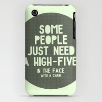iPhone 3Gs & iPhone 3G Cases featuring High-Five by Square Lemon