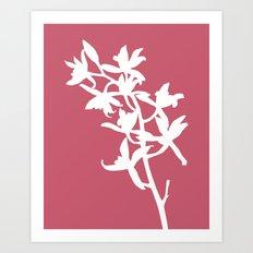 Orchid in Hot Pink - Original Floral Botanical Papercut Design Art Print