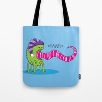 Even Monsters Get Sleepy Tote Bag