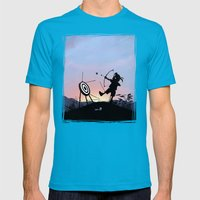 Hawkeye Kid Mens Fitted Tee Teal SMALL