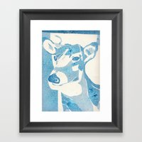 Deerest Blue Framed Art Print